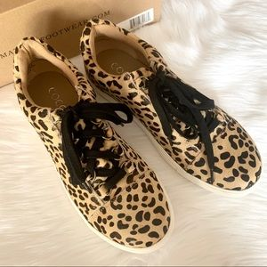 """Coconuts leopard print cowhair """"Relay"""" sneakers"""